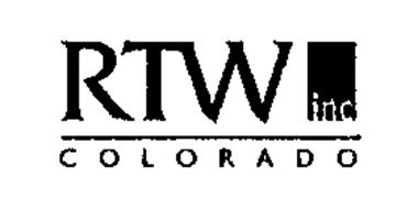 RTW INC COLORADO