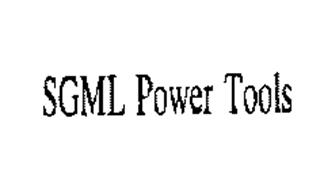 SGML POWER TOOLS