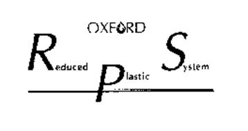 OXFORD REDUCED PLASTIC SYSTEM