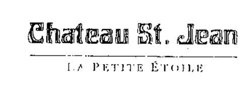 CHATEAU ST. JEAN LA PETITE ETOILE