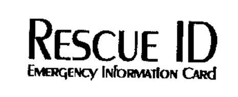 RESCUE ID EMERGENCY INFORMATION CARD