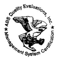 ABS QUALITY EVALUATIONS, INC. MANAGEMENT SYSTEM CERTIFICATION