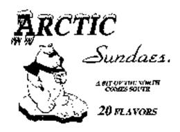 ARCTIC SUNDAES A BIT OF THE NORTH COMES SOUTH 20 FLAVORS