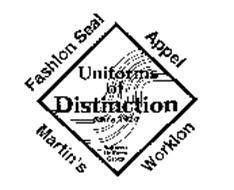 UNIFORMS OF DISTINCTION SINCE 1920 SUPERIOR UNIFORM GROUP FASHION SEAL APPEL MARTIN'S WORKLON