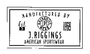 MANUFACTURED BY JR AUTHENTIC WEAR EST. 1969 J.RIGGINGS AMERICAN SPORTSWEAR