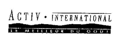 ACTIV INTERNATIONAL LE MEILLEUR DU GOUT