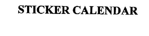 STICKER CALENDAR