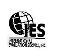 IES INTERNATIONAL EVALUATION SERVICE, INC.