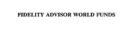 FIDELITY ADVISOR WORLD FUNDS