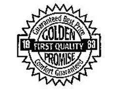 GOLDEN PROMISE 1963 FIRST QUALITY GUARANTEED BEST PRICE COMFORT GUARANTEED