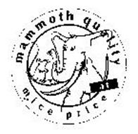 MAMMOTH QUALITY AT MICE PRICE