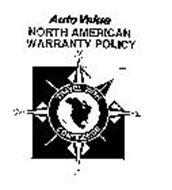 AUTO VALUE NORTH AMERICAN WARRANTY POLICY TRAVEL WITH CONFIDENCE N E S W