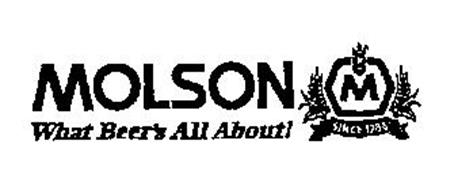 MOLSON WHAT BEER'S ALL ABOUT! M SINCE 1786