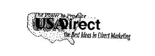 THE POWER TO PRODUCE... USADIRECT THE BEST IN DIRECT MARKETING