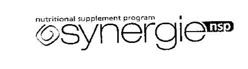 SYNERGIE NSP NUTRITIONAL SUPPLEMENT PROGRAM