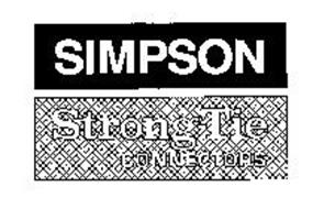 SIMPSON STRONG-TIE CONNECTORS