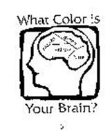 WHAT COLOR IS YOUR BRAIN? ORANGE YELLOW