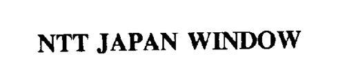 NTT JAPAN WINDOW