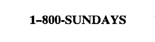 1-800-SUNDAYS