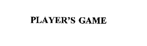 PLAYER'S GAME