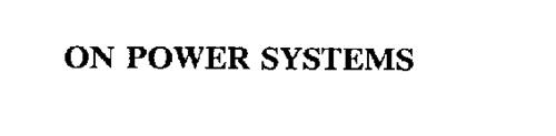 ON POWER SYSTEMS