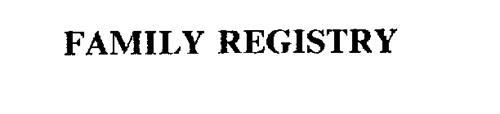 FAMILY REGISTRY