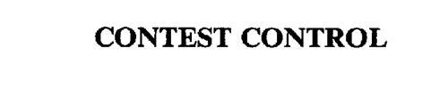 CONTEST CONTROL