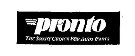 PRONTO THE SMART CHOICE FOR AUTO PARTS