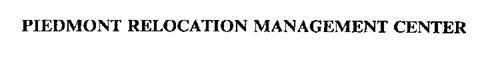 PIEDMONT RELOCATION MANAGEMENT CENTER