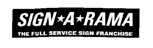 SIGN*A*RAMA THE FULL SERVICE SIGN FRANCHISE