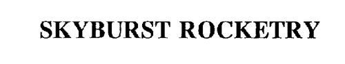 SKYBURST ROCKETRY