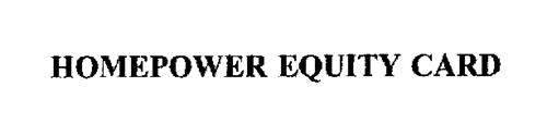 HOMEPOWER EQUITY CARD