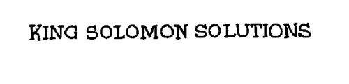 KING SOLOMON SOLUTIONS
