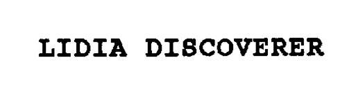 LIDIA DISCOVERER