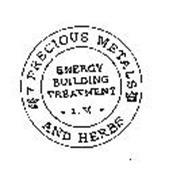 KS 7 PRECIOUS METALS KS AND HERBS ENERGY BUILDING TREATMENT I.V.