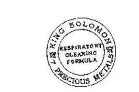 KING SOLOMON PRECIOUS METALS RESPIRATORY CLEARING FORMULA