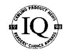 IQ CABLING PRODUCT NEWS READERS' CHOICE AWARDS 1998