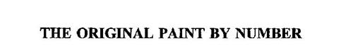 THE ORIGINAL PAINT BY NUMBER