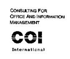 CONSULTING FOR OFFICE AND INFORMATION MANAGEMENT COI INTERNATIONAL
