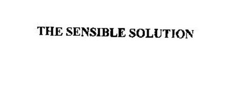 THE SENSIBLE SOLUTION