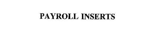 PAYROLL INSERTS