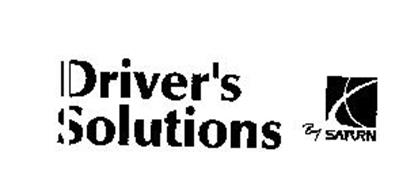 DRIVER'S SOLUTIONS BY SATURN