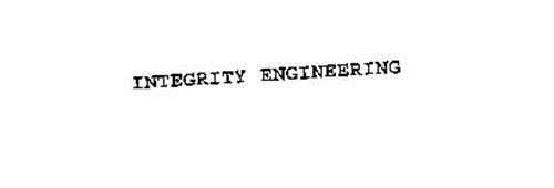 INTEGRITY ENGINEERING