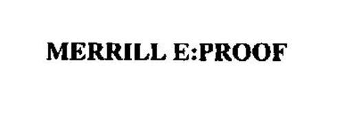 MERRILL E:PROOF
