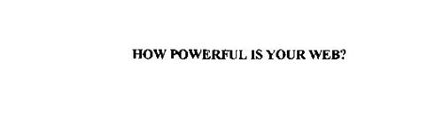 HOW POWERFUL IS YOUR WEB?