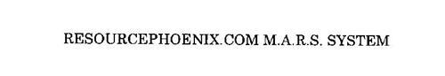 RESOURCEPHOENIX.COM M.A.R.S. SYSTEM