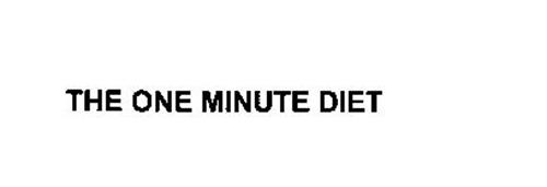 THE ONE MINUTE DIET