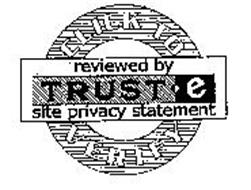 CLICK TO VERIFY REVIEWED BY TRUSTE SITEPRIVACY STATEMENT
