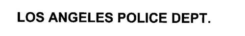 LOS ANGELES POLICE DEPT.