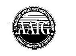 AAIG AUTOMOTIVE APPEARANCE INSPECTION GROUP QUALITY INSPECTED & TESTED